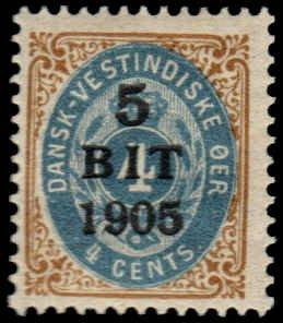 Danish West Indies  - 40 - Unused - SCV-16.00