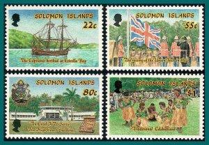 Solomon Islands 1988 Independence, MNH #614-617,SG622-SG625