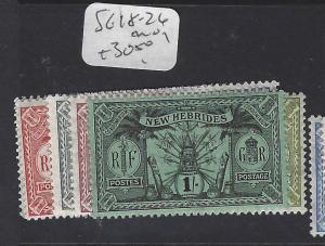 BRITISH  NEW HEBRIDES   (PP0312B)   SG 18-26       MOG