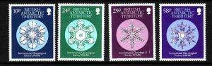 British Antarctic Territory-Sc#133-6- id2-unused NH set-Gaciological Society-Sno