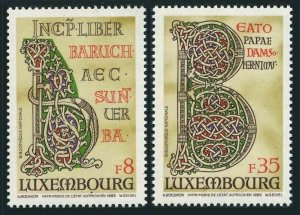 Luxembourg 691-692,MNH.Mi 1076-1077. Illuminated Letters of Giant Bible,