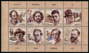 HERRICKSTAMP NEW ISSUES SERBIA Art 2016 Sheetlet in Booklet