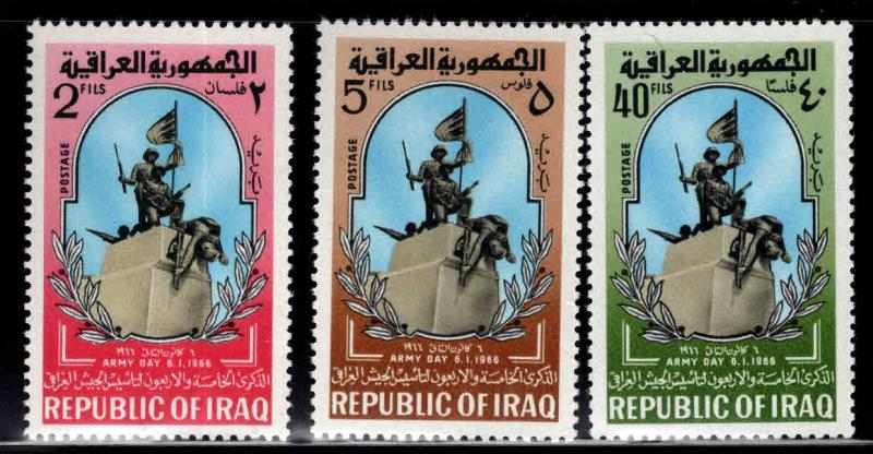 IRAQ Scott 396-398 MH*  1966 Army day set