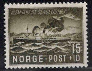 Norway Scott B36 MH* Ship Aflame 1944 Semi-Postal