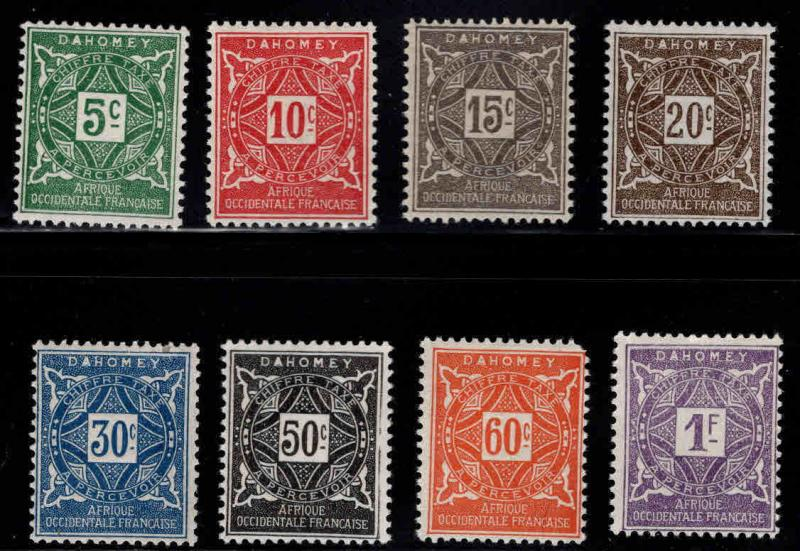 Dahomey Scott J9-16 MH* postage due set 1914