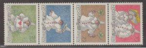 Liechtenstein Scott #1124a Stamps - Mint NH Strip of 4