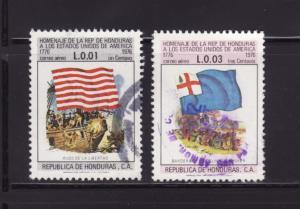 Honduras C601, C603 U Flags, American Bicentennial