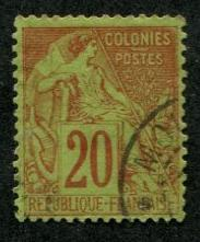French Colonies SC# 52 Commerce 20c Used