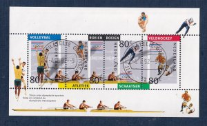 Netherlands  #806  cancelled  1992  sheet Olympic games