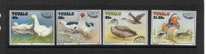 BIRDS - TUVALU #742-5  MNH