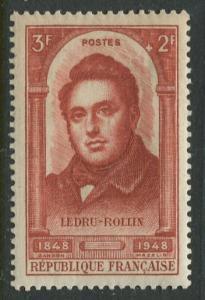 France - Scott B225 - Semi Postal Issue -1948 - MLH - Single 3fr +2fr Stamp