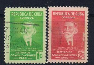 Cuba Sc. #438 / 439 Ismael Cespedes Used L12