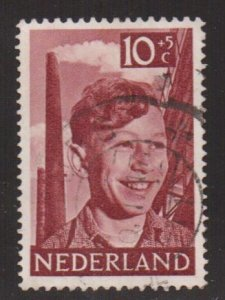 Netherlands   #B232  used 1951  child welfare 10c