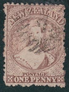 NEW ZEALAND 1870 Chalon 1d brown SG132a used...............................796