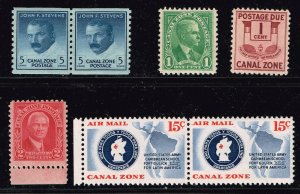 US STAMP Possessions CANAL ZONE  MNH STAMPS COLLECTION LOT