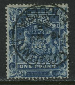 Rhodesia 1894 £1 CDS used