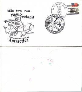 1984 US NAVY + NEW ZEALAND CACHET, 1984, Polar