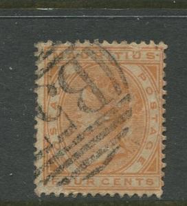 Mauritius - Scott 71 - QV Definitive Issue -1882- FU- Single 4c Stamp