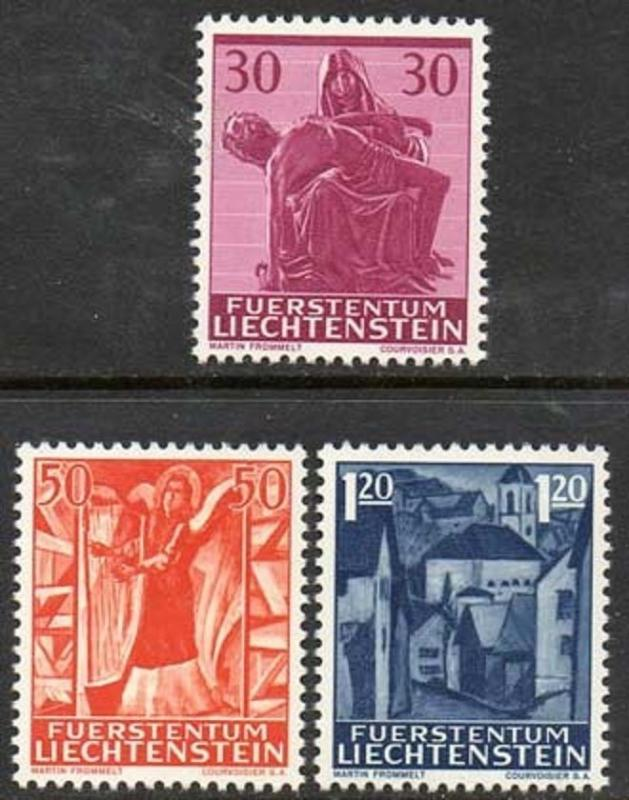 Liechtenstein 1962 Christmas Angel Pieta VFMNH (372-4)