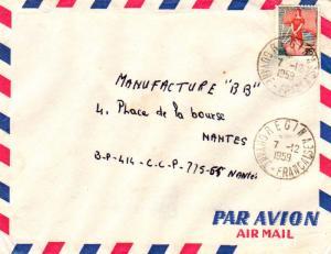 French Guiana France 25F Marianne and Ship of State 1959 Regina, Guyane-Franc...
