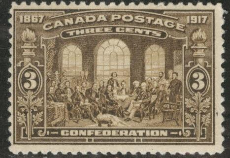 CANADA Scott 135 MH* 1917 Fathers of confederation  CV$47