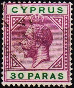 Cyprus.1912 30pa S.G.76 Fine Used