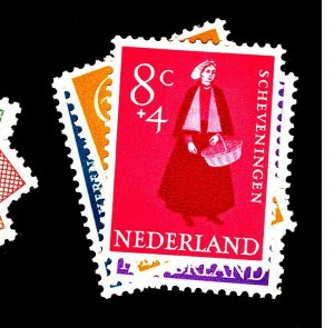 Netherlands #B321-5 MINT F-VF OG LH Cat $17