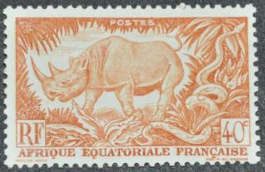 French Equatorial Africa Scott #168 - UNUSED