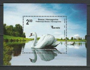 Bosnia and Herzegovina 2010 Birds, Swan MNH Block