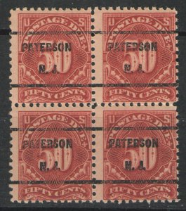 US 1917 Sc# J67 MNH VG - Block of 4 w/ Precancel  Patterson NJ