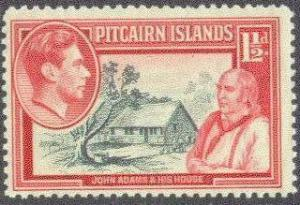 Pitcairn Isl.   3 MNH 1940 1 1/2p KGVI Definitive