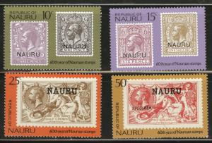 Nauru MNH 138-41 Stamps On Stamps 1976