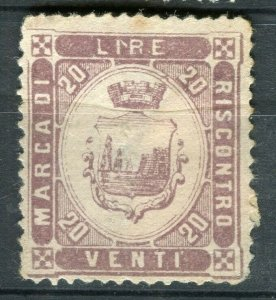 ITALY; Early classic Local Revenue ( Riscontro ) issue Mint value,