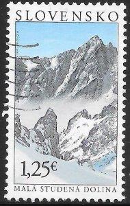 Slovakia 670 Used - Tatra Motifs - The Small Cold Valley