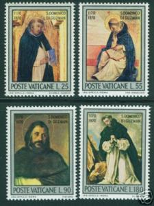 VATICAN Scott 509-12 MNH** 1971 St. Domenic set