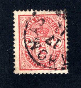 Danish West Indies #29,  F,  Used,   CV $22.50 ....1630024