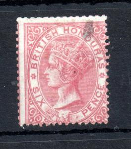 British Honduras 1865 6d rose SG3 no WMK mint MH (fault) WS13102