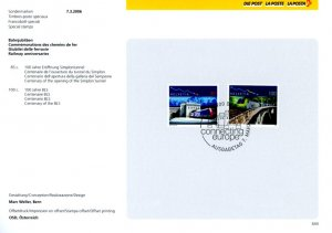 Switzerland 1231-2 used with FDC cancel on Swiss PTT collection sheet