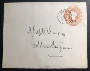 1896 Barbados Postal Stationery Cover To Hastings