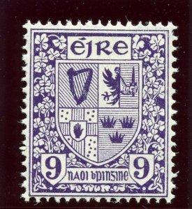 Ireland 1940 KGVI 9d deep violet (watermark inverted) superb MNH. SG 120w.
