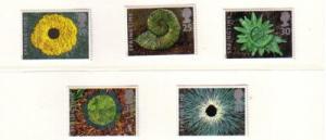 Great Britain Sc 1591-5 1995 Springtime stamp set mint NH