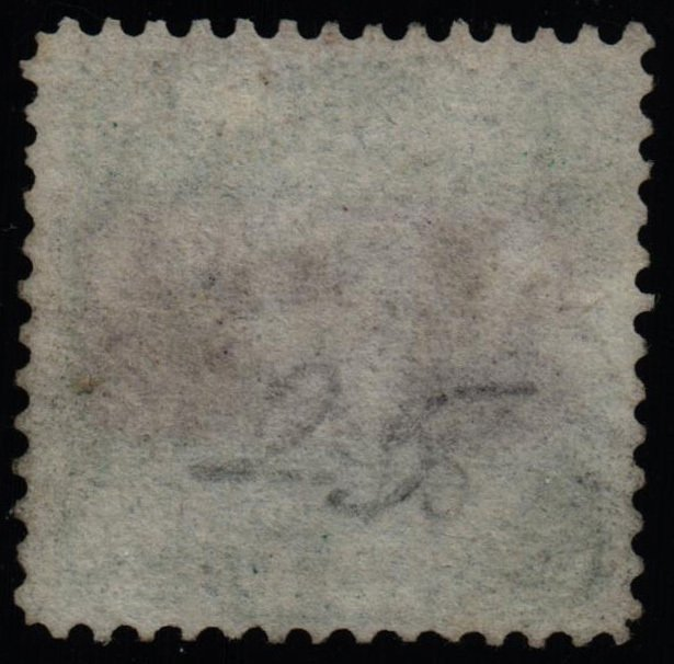 US Scott #120 - F/VF - Used - 24c Signing of Declaration Green & Violet - 1869