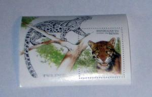 Benin - 848, MNH S/S. Wild Cat. SCV - $6.50