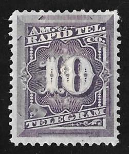#1T4  10 cents Prepaid Telegraph Stamp used VF