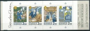 Sweden 1986 #1610a MNH. Expo, booklet, signed