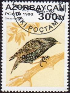 Azerbaijan 595 - Cto - 300m Common Starling (1996) (cv $0.90) (2)