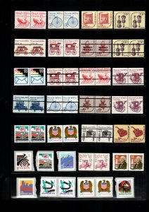 US  22 MNH coil pairs