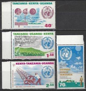Kenya, Uganda and Tanzania  259-62   MNH  WMO 100th Anniversary
