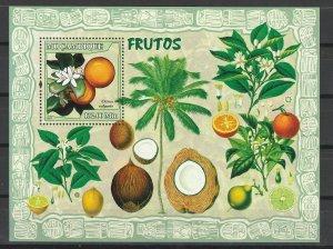 Mozambique MNH S/S Fruits YUM!!! YUM!!!!