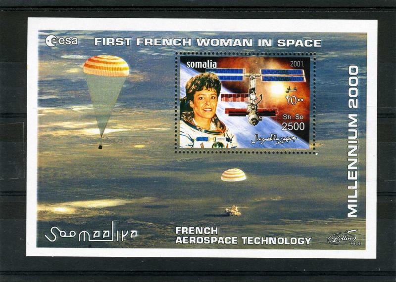 Somalia 2001 SPACE French Aerospace Technology s/s Perforated mnh.vf